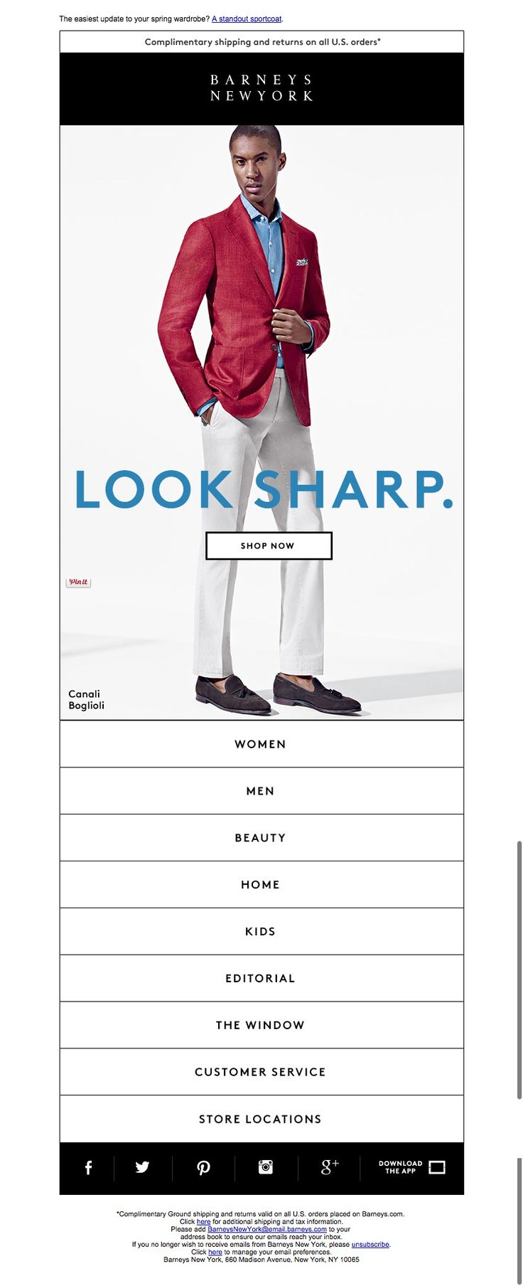 #newsletter Barneys NY 03.2015 Jacket Required: Shop Spring Sportcoats for Men