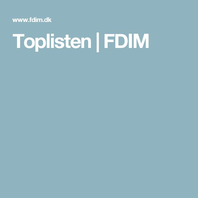 Toplisten | FDIM