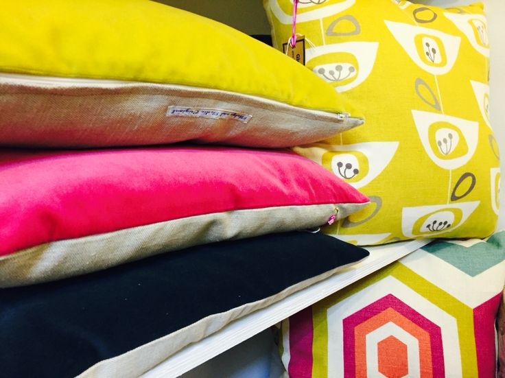 Velvet cushions by Gladys and Gertie