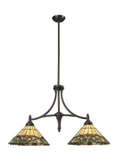 This Billiard Island Fixture in the Sola family features a rich foliage with brightly colored floating flowers set against a honey background. This warm look is complimented with chestnut bronze hardware, guaranteed to bring natural essence to any room Z14-49IS