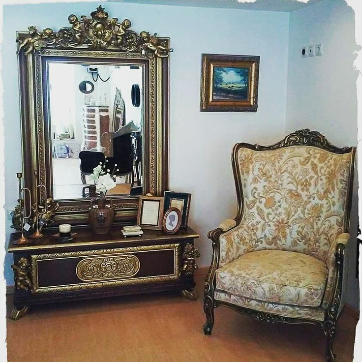 #armchair #chest #mirror #angels