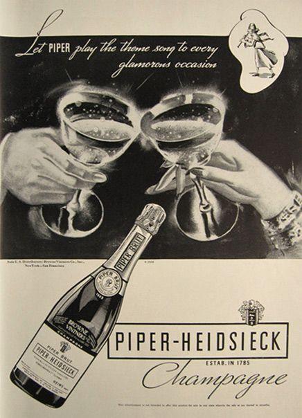 1934 Piper Heidsieck Champagne Ad in 2019 | Je T'aime ...
