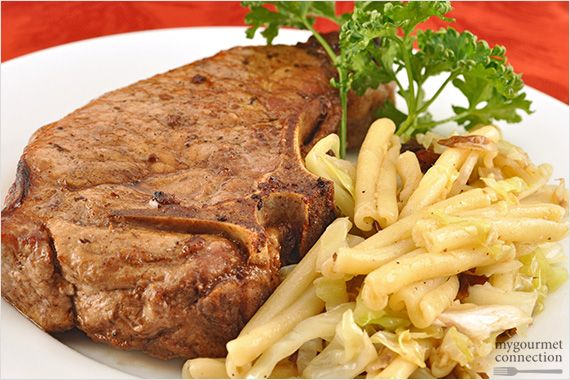 Rustic Garlic-Balsamic Pork Chops