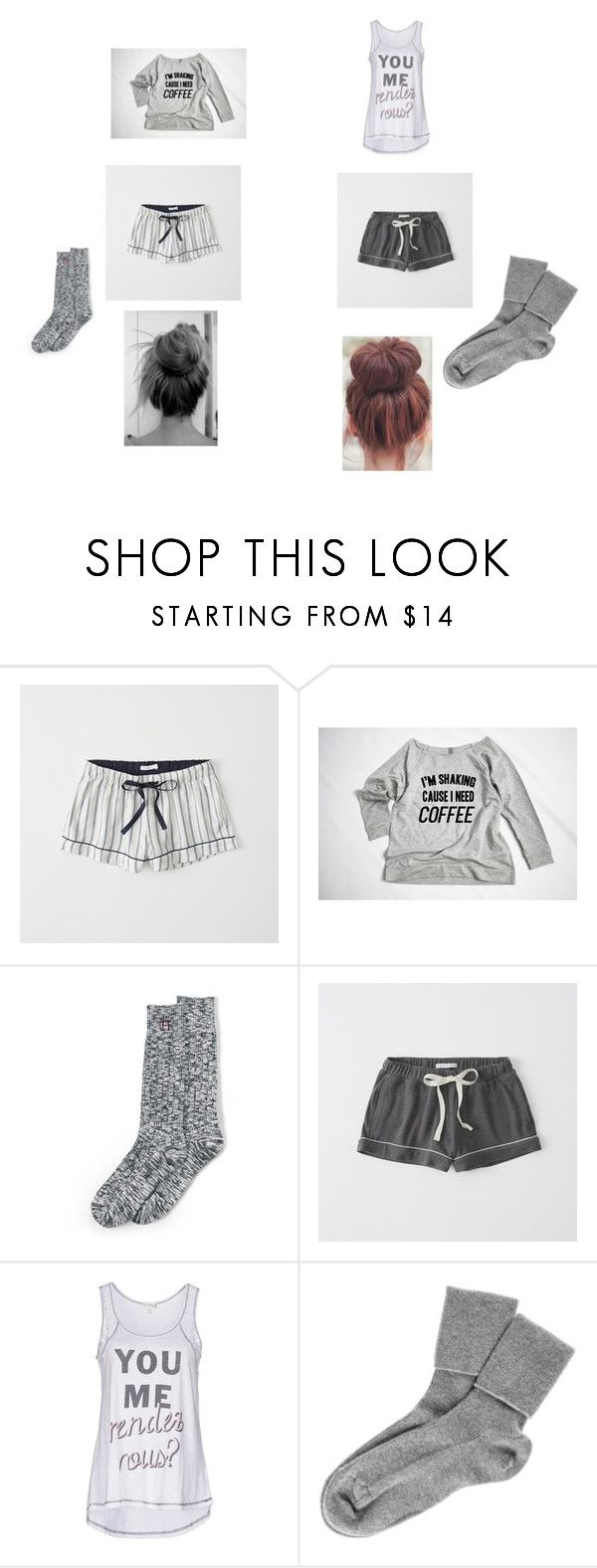 """""""Sick Day With Bestfriend"""" by princessladybug07 on Polyvore featuring Abercrombie & Fitch, Lands' End, P.J. Salvage and Black"""