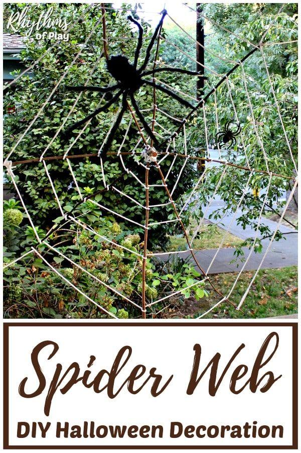 Giant Halloween Spider Web Decoration Diy Halloween Decorations