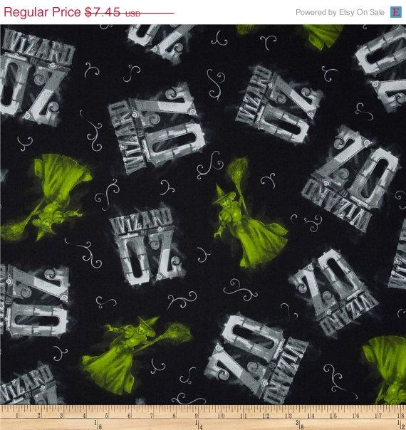 Wizard of Oz Fabric--from original Wizard of Oz Movie--Spectacular by altcollect. Explore more products on http://altcollect.etsy.com