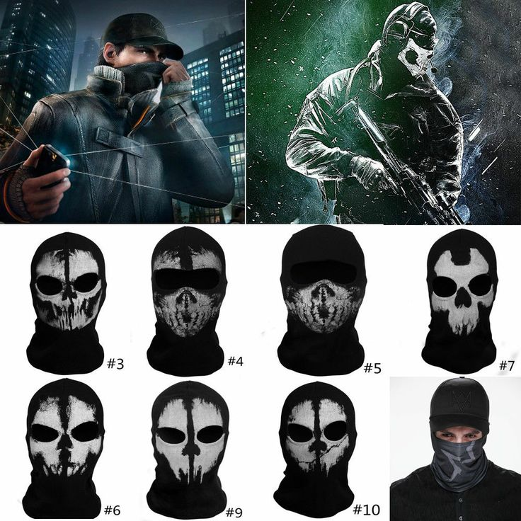 Call Of Duty Mask Cosplay Costume Watch Dogs Scarf & Cap