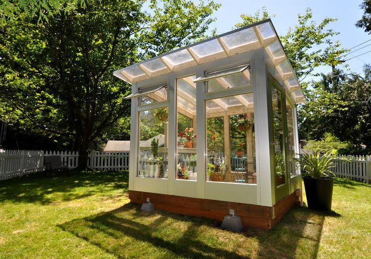 A light-filled she shed, courtesy of Studio Shed | He Shed, She Shed-How to Customize a Shed for Work or Play
