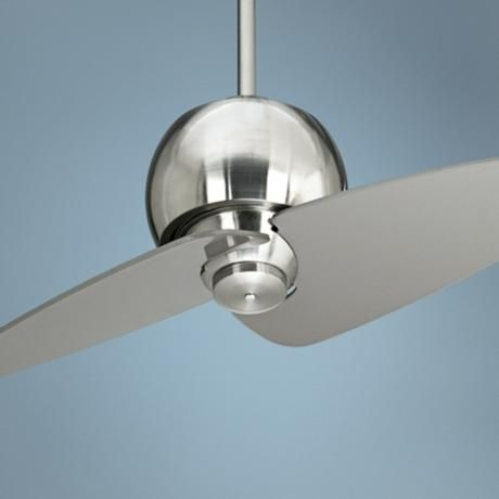 "30"" Entity Brushed Nickel Damp Location Ceiling Fan - $99.99  on sale Lamps Plus  free shipping and returns (has a remote) - for our backyard - TOO SMALL ?"