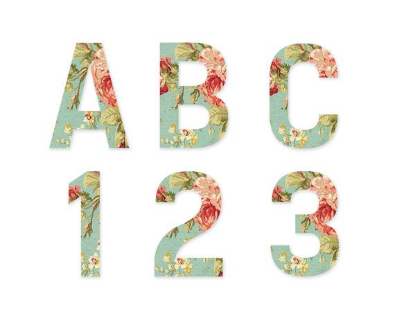 INSTANT DOWNLOAD // Alphabet Clipart // by VintagePaperPegasus, #alphabet #typography #clipart #vintage