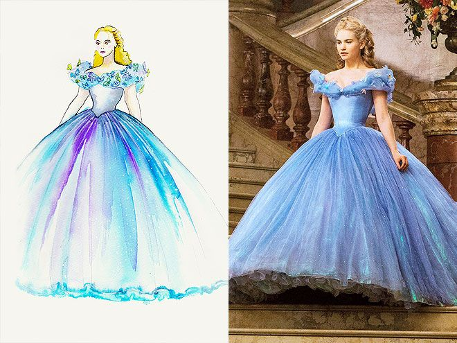 Cinderella Costume Design Photos amp Sketches Lily James