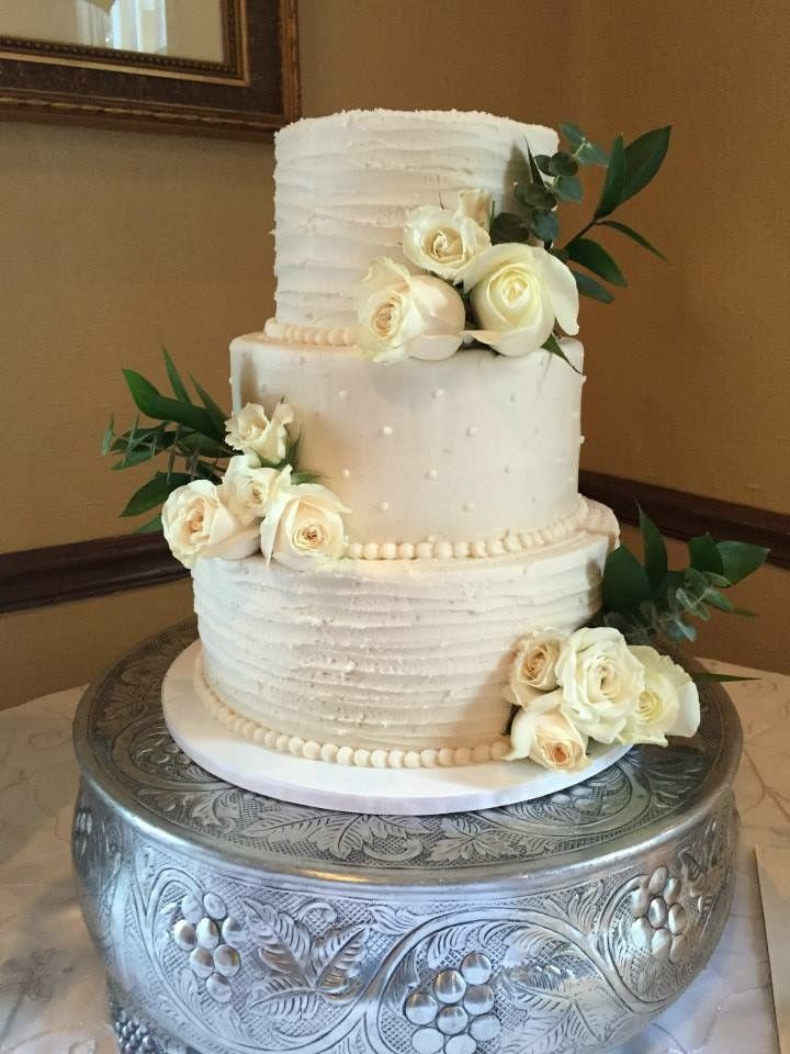Custom homemade wedding cake