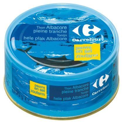 Carrefour thon au naturel sans sel