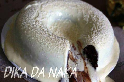 Bolo vulcão de leite ninho e nutella