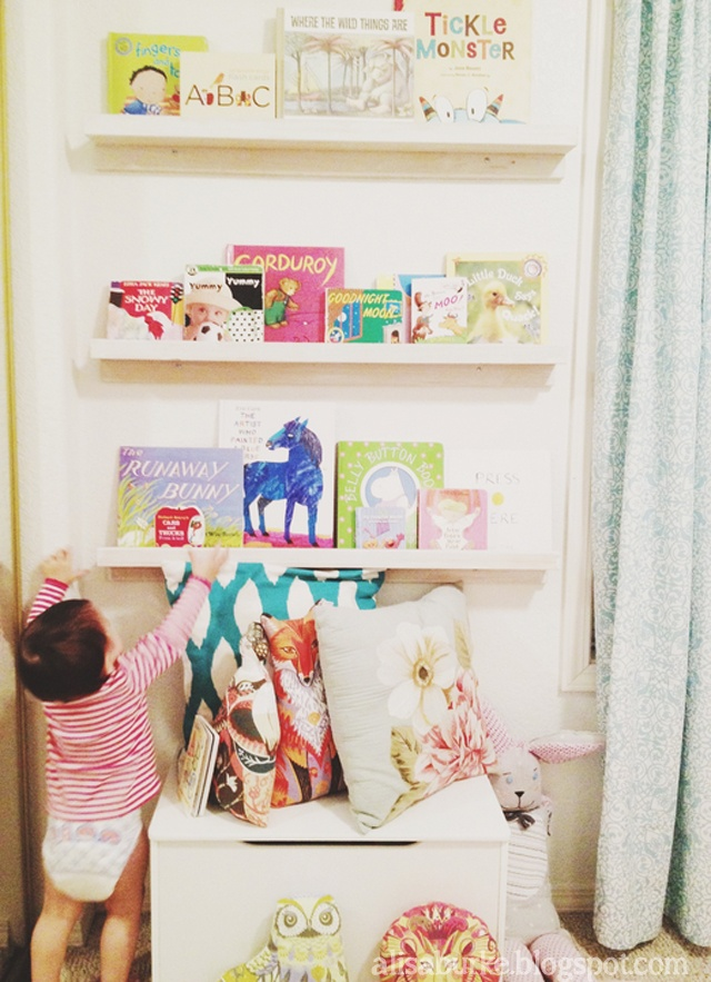 DIY Book Wall for display in a kid's room
