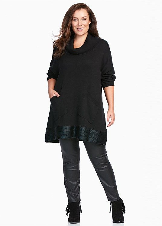 Isabella Draped Knit Tunic #takingshape #plussize #curvy
