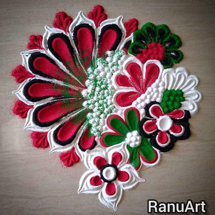 Diwali special सोपी आणि फुलांची beautiful rangoli design