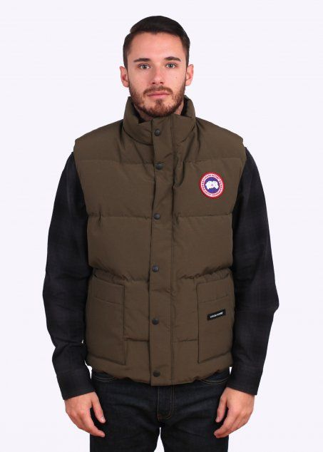 cheap canada goose freestyle vest military green women's