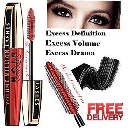 b6ad494b1a7 New L'Oreal Volume Million Lashes Noir Excess Mascara Extra Black 10 ml -  SALE - #LOreal
