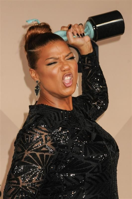 Queen Latifah missed the memo. She must have thought she was attending the Scream Actors Guild Awards