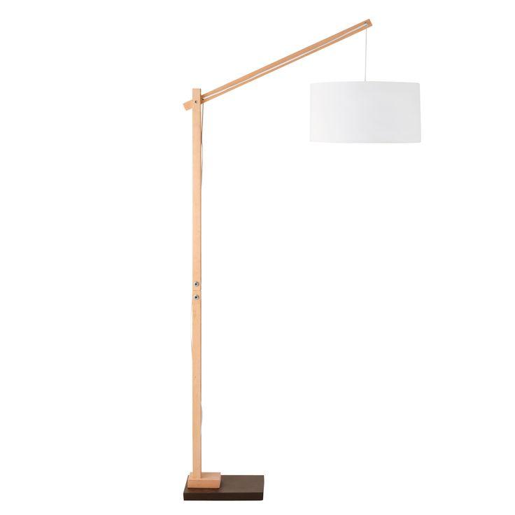 Lampadaire en bois et coton H 180 cm TAIGA