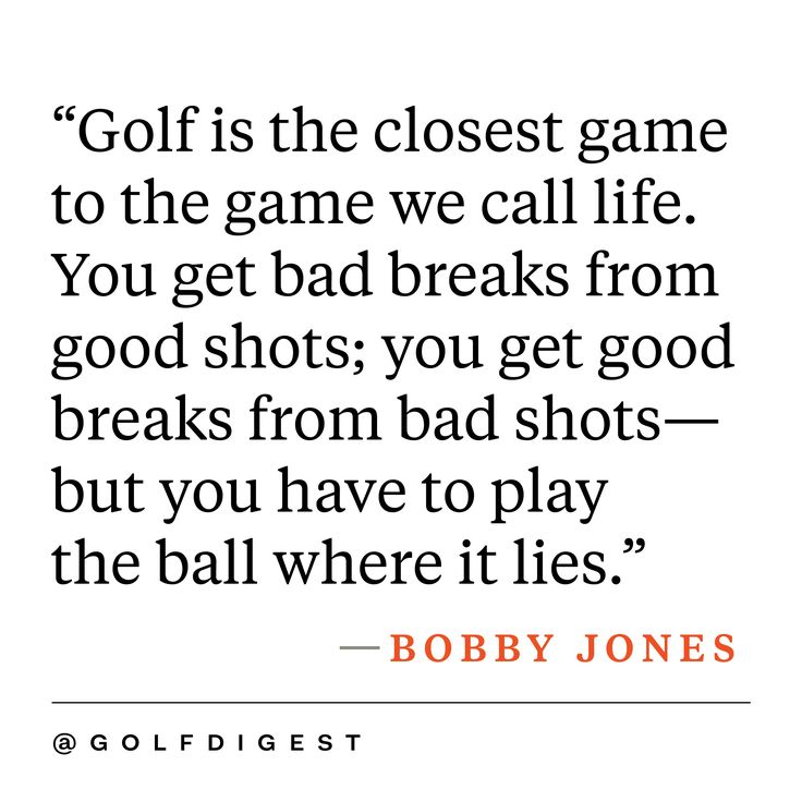 Golf And Life Quotes Fascinating Best 25 Inspirational Golf Quotes Ideas On Pinterest  Golf