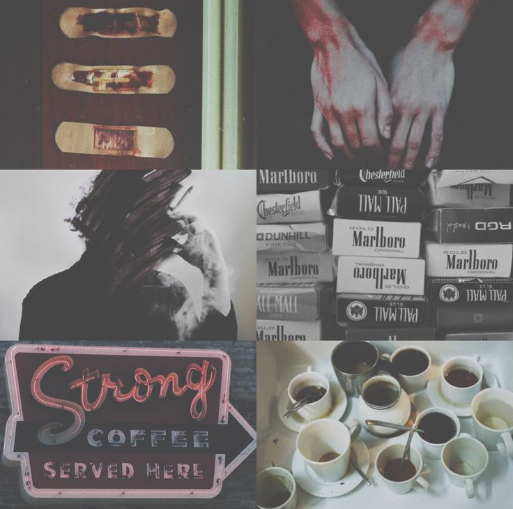 #youth aesthetic — blood, cigarettes, coffee