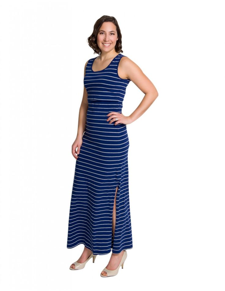 Want to flatter your postpartum figure and look amazing while breastfeeding your baby? Momzelle Maxi Nursing Dress Madison is the answer!