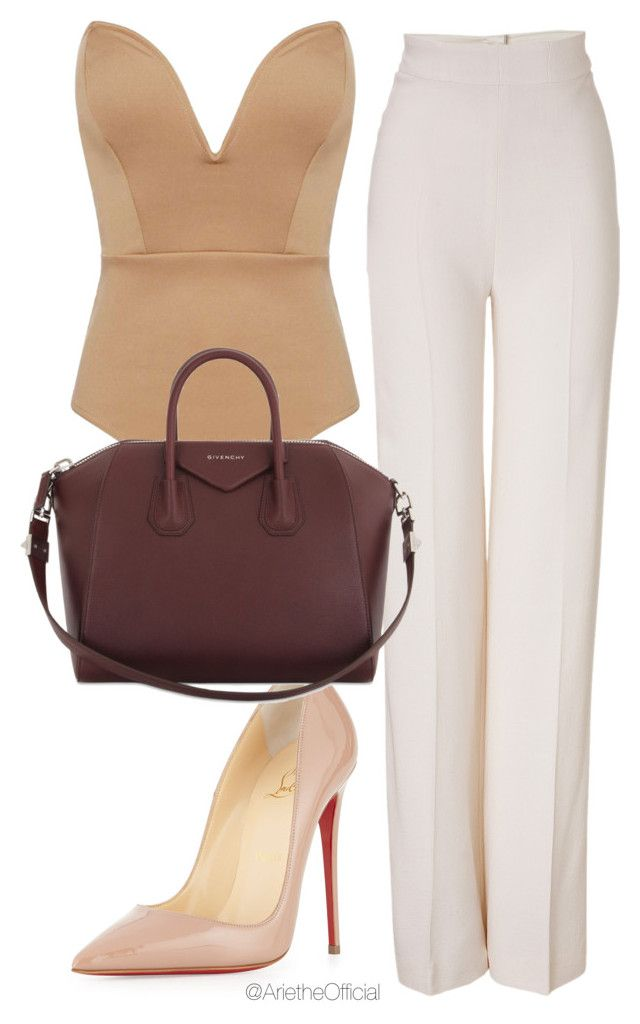 """""""Untitled #45"""" by arietheofficial ❤ liked on Polyvore featuring Emilia Wickstead, Christian Louboutin and Givenchy"""