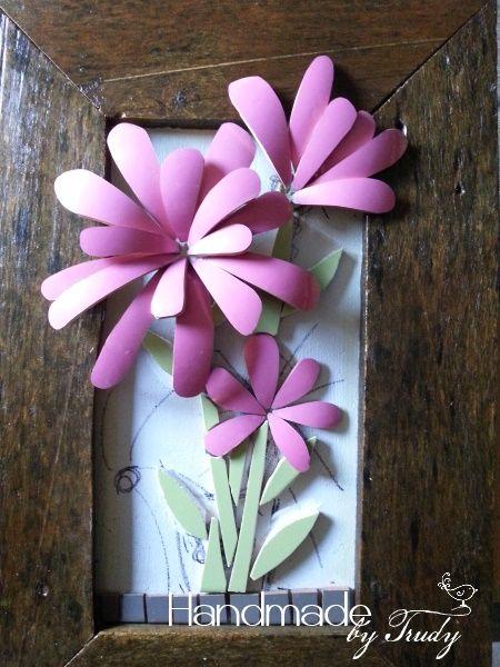 Pink flower stems