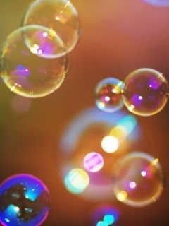 Colorful Bubbles Wallpaper for HTC Phones as HTC Desire, ONE X etc.