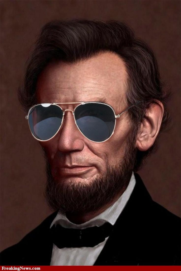 Abe-Lincoln-Wearing-Sunglasses-