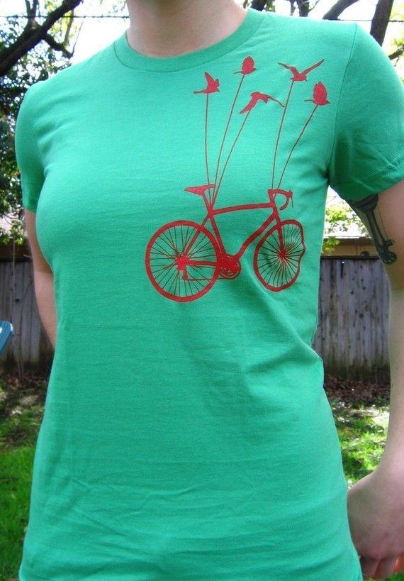 Flying Bike TShirt by MartyMay on etsy.com