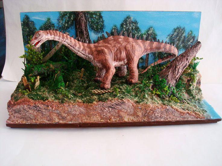 Diorama dinosaur apatosaurus by darkozarinstin dinosaur