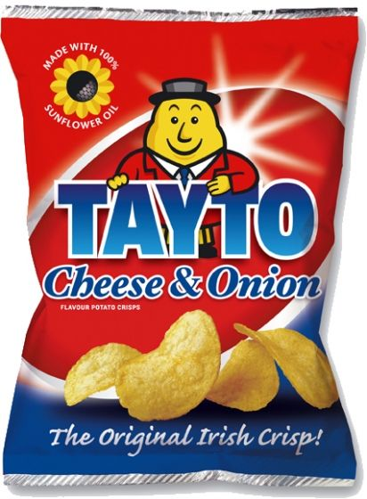 Food Ireland Tayto Cheese & Onion 37g (1.3oz) X 60