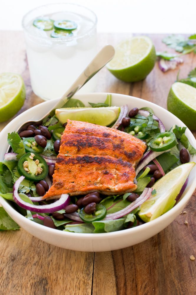 Mexican Salmon Salad | Recipe