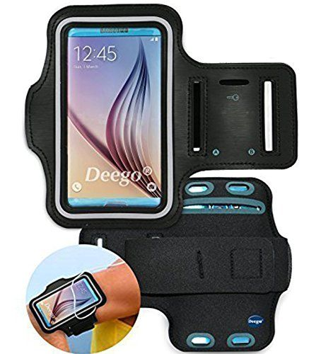 Galaxy S5, Galaxy S6,galaxy S6 Edge Sport Armband , Nancy's Shop Easy Fitting Sports Universal Running Armband with Build in Screen Protect Case Cover Running Band Stylish Reflective Walking Exercise Mount Sports Universal Armband Case+ Key Holder Slot for Samsung Galaxy S 5 , Samsung Galaxy S6,samsung Galaxy S 6 Edge (Black)