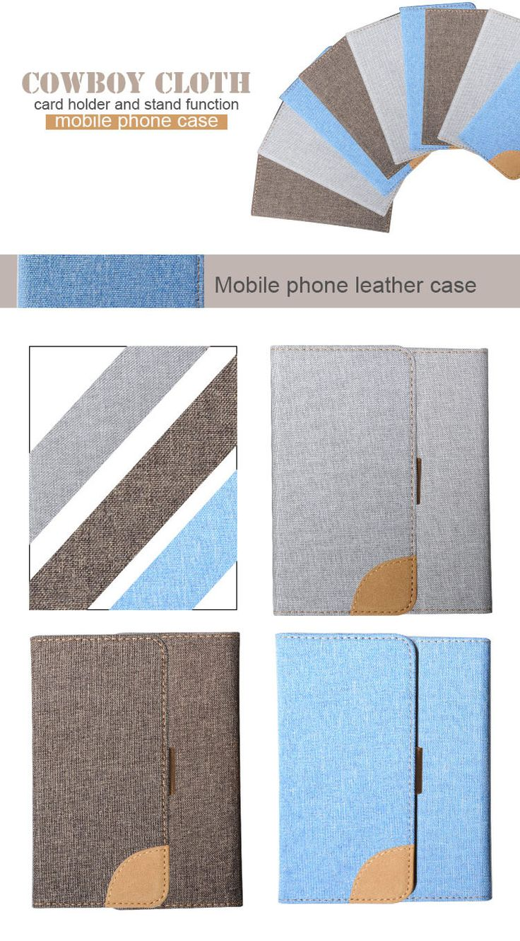 3 kinds of mobile phone leather case with cowboy cloth.