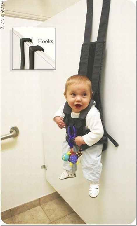 well... you cant hold your baby while you pee!!! who would of thought of this though