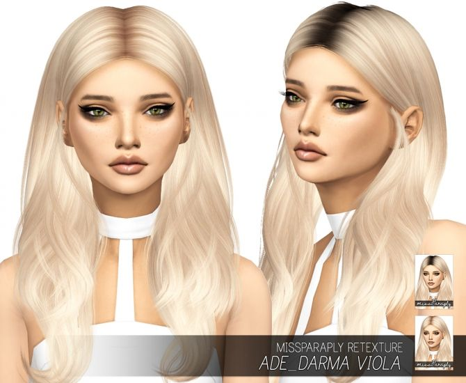 Ade_Darma Viola: Solids & Dark Roots at Miss Paraply via Sims 4 Updates