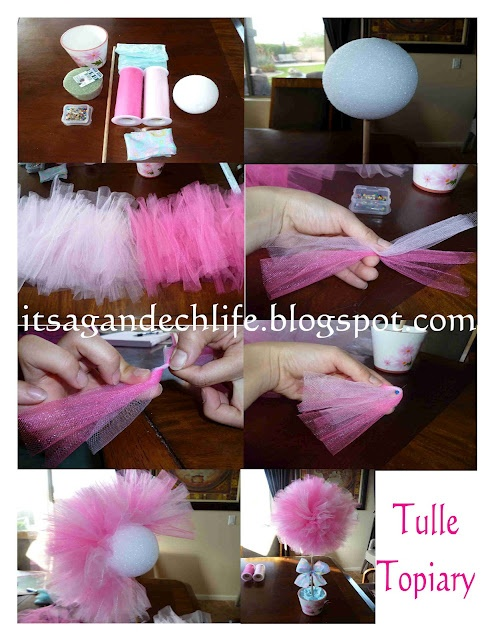 Tulle topiary tutorial