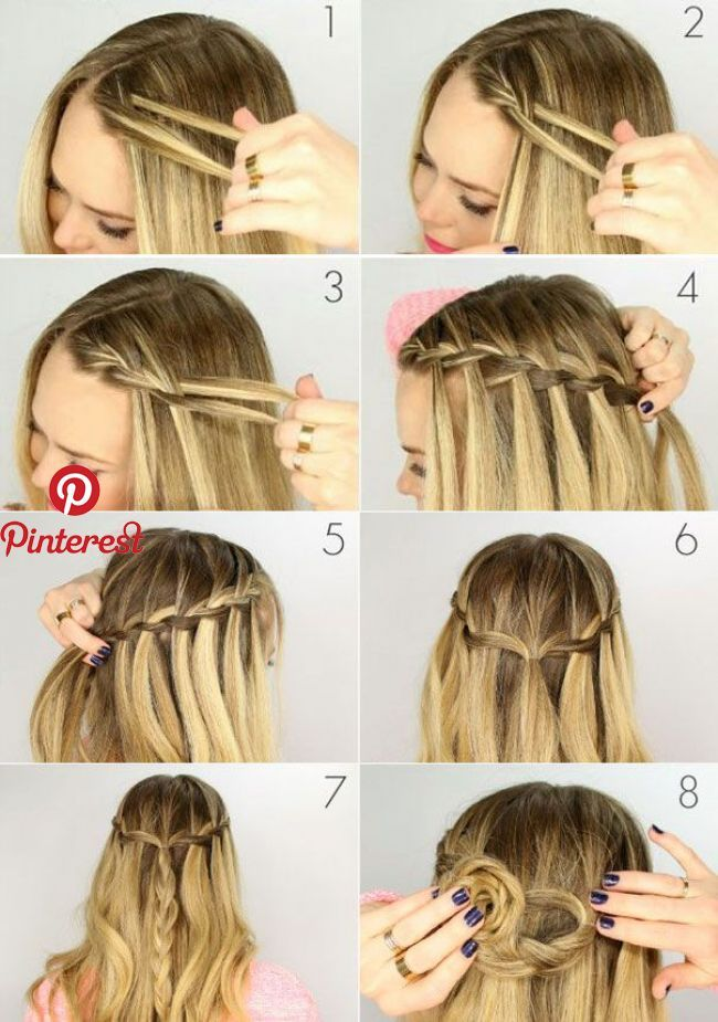 How to braid pigtail waterfall | Dryna in 2019 | Pinterest | Hair, Hair styles and Short hair styles How to braid …