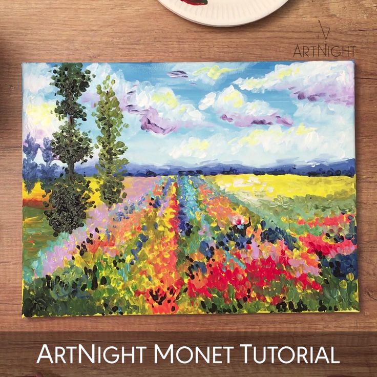Video: Blumen malen wie Monet