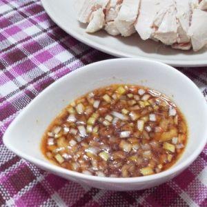 「*ネギソース*茹で鶏・蒸し鶏・唐揚げにも・・」鶏料理の他に、蒸し餃子にも!ラーメンやお粥・中華スープのアクセントに、ちょっと入れても美味しいです♪【楽天レシピ】