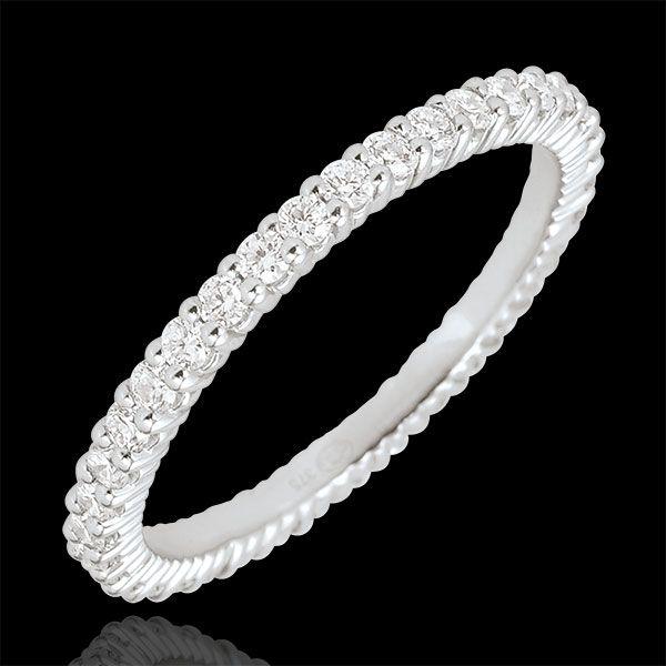 Alliance or blanc Radieuse - 38 diamants - 0.57 carat : bijoux Edenly