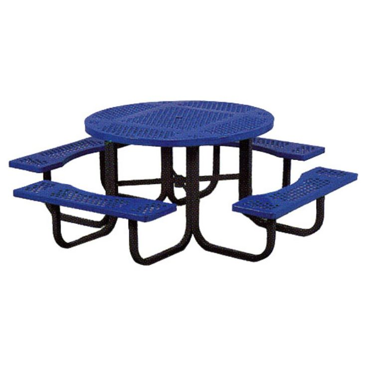 Outdoor Paris Equipment Commercial Round Picnic Table With Umbrella Hole |  Products | Pinterest | Round Picnic Table And Products