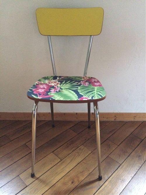 Les 25 meilleures id es de la cat gorie meubles recouverts for Chaise formica