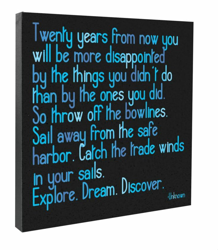"""Canvas - """"Twenty years from now..."""" - at Evans & Hall"""