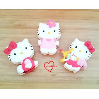 Loving Creations for You: Full-Body Hello Kitty Macarons with Chocolate Gana...