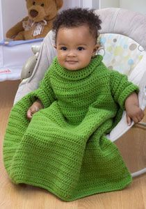 Crochet Baby Snuggle.. good for car seat blanket because you can buckle them in around blanket arms and between legs while still keeping them covered